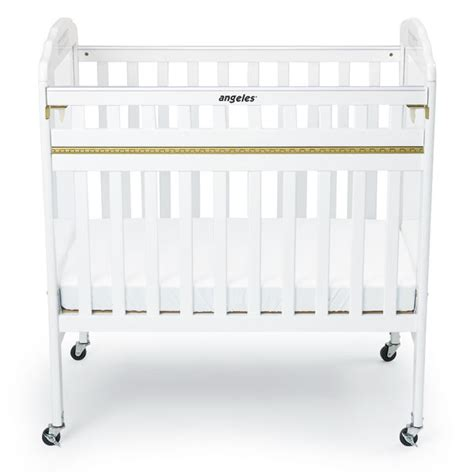 Crib Gate by Angeles Drop Gate Crib In White W Clear Panels Ael7056a