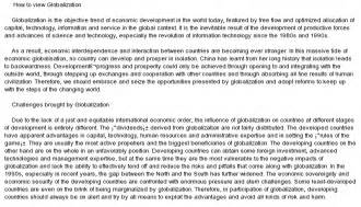 An Essay On Globalisation by Globalization Essay Template At Essaypedia