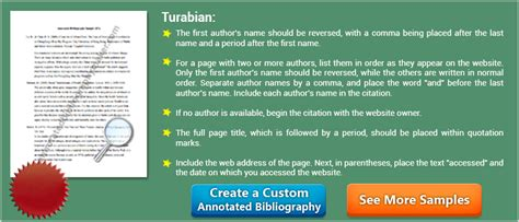 Bibliography Format For Dissertations by Turabian Annotated Bibliography