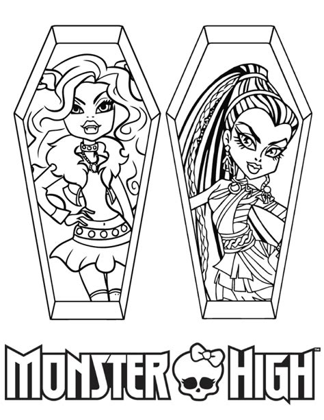 monster high coloring pages nefera de nile nefera boo york coloring page coloring pages