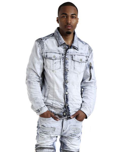 M 8 Styles Fashion Denim Jacket Slim Fit smoke rise s slim fit moto biker denim jacket ebay