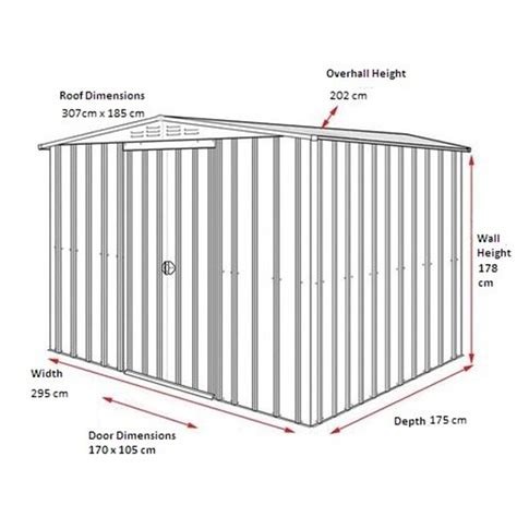 10 X 6 Metal Shed by 10 X 6 Apex Heritage Green Metal Shed 2 95m X 1 75m