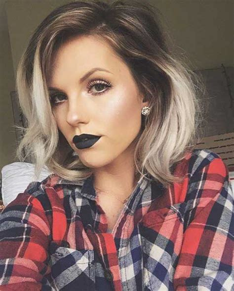 short hair blonde and brown colors 20 best ombre hair color for short hair short hairstyles