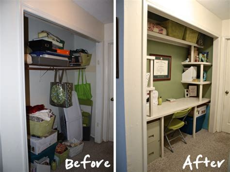 how to turn a closet into a home office casa