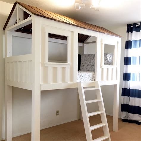 Ana White Loft Cabin Bed Diy Projects Cabin Bunk Beds For