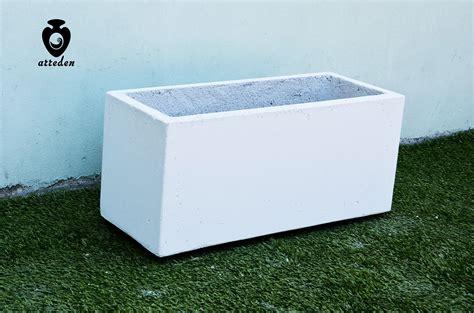 vasi in cemento bianco cemento ispirazioni scala