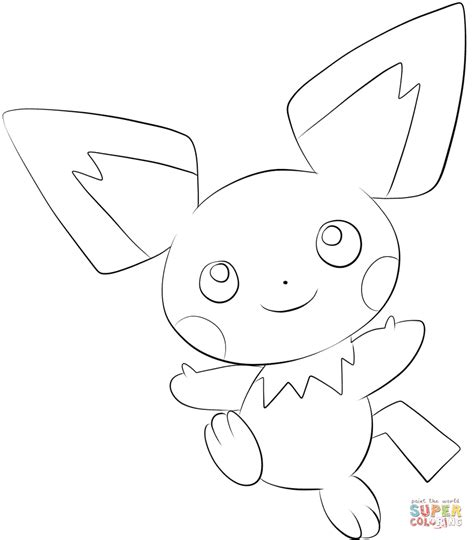 pokemon coloring pages pichu pichu coloring page free printable coloring pages