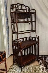 Wicker Bakers Rack Rattan Bakers Rack At 1stdibs