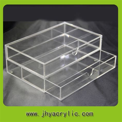 Acrylic Make Up 2 Drawer Akrilik acrylic supply the new drawer box with acrylic tea bag