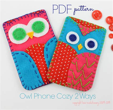 felt craft projects patterns owl phone felt craft pattern by lovahandmade craftsy