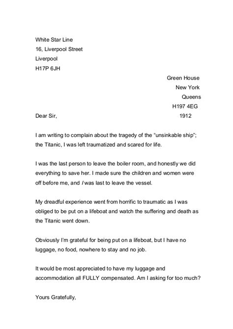Complaint Letter Exles For Class 11 Whole Class Of Letters Complaint Nov2014