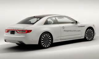 2017 lincoln continental coupe rendered why ford shouldn