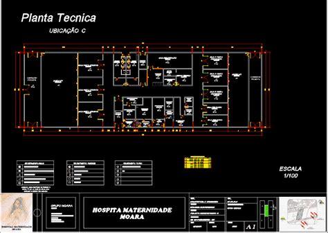 maternity hospital moara location  dwg block  autocad
