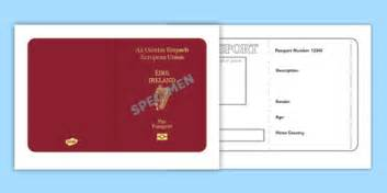 Teddy Passport Template