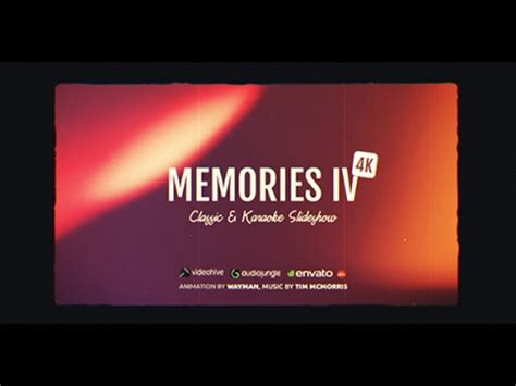 Memories Iv Classic Karaoke Slideshow After Effects Template Youtube After Effects Karaoke Template
