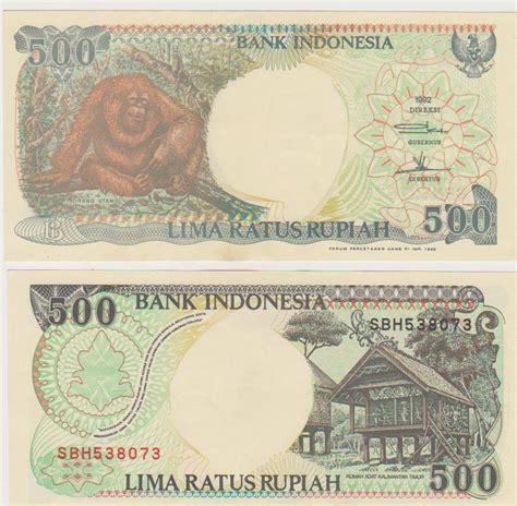 500 Rupiah Orang Utan 1992 Murah jual uang kuno rp 500 rupiah 1992 monyet orang utan