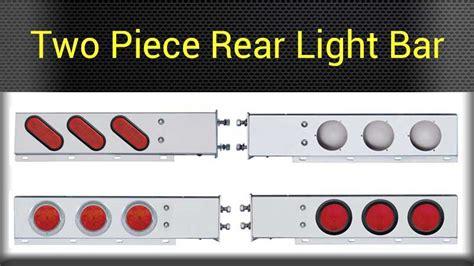 semi truck tail light assembly mud flap rear light bars big rig chrome shop semi