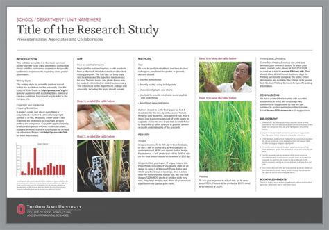research poster template research poster templates the cfaes brand