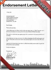 Endorsement Letter For On The How To Write An Endorsement Letter Sle