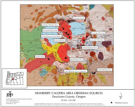 Pdf Of State Newberry by Obsidian Source Maps United States