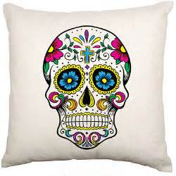 Mexican Home Decor Stores Mexican Sugar Skull Cushion Cover Velvet Day Of The Dead