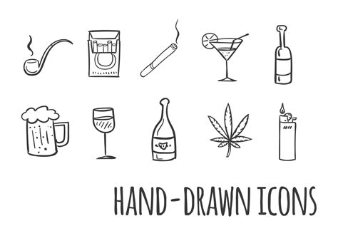 alcohol vector smoking and drinking vector icons download free vector