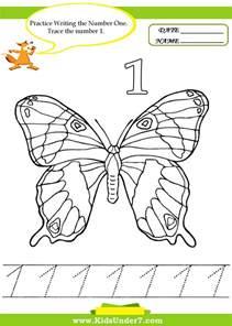 kids under 7 number tracing 1 10 worksheet part 2