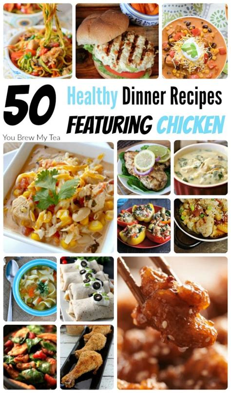 healthy recipes for dinner featuring chicken