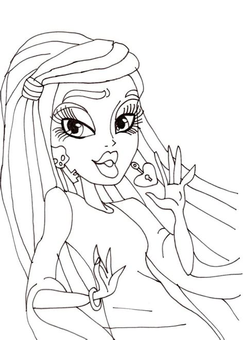 monster high faces coloring pages monster high spectra face coloring pages monster best