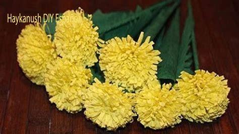 flores de crepe sencillas como hacer flores de papel crepe faciles y bonitas youtube