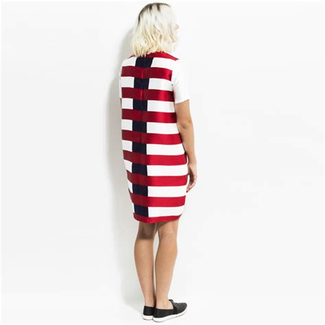 Clearance Sale Disc 50 Mini Dress Import 62 cocoon dress navy stripe kingdom state