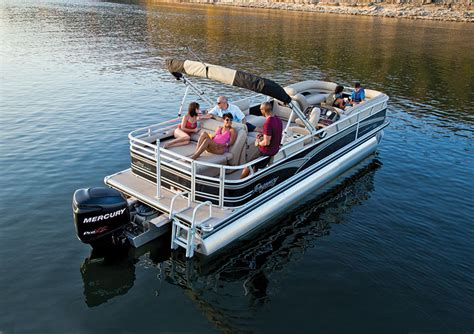 legend boats sold to johnny morris sun tracker party barge 254 xp3 boating world