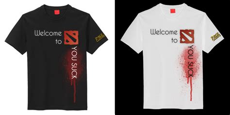 Tshirt Welcome To Dota Rtvcloth t shirt design contest for purgegamers dota2