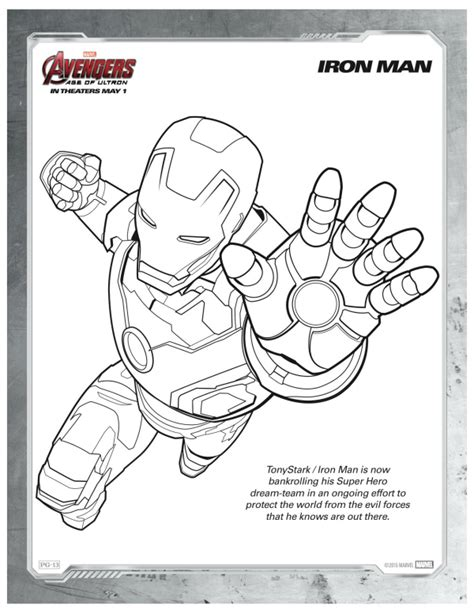 avengers birthday coloring pages free printable marvel avengers iron man coloring page