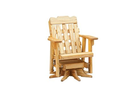 Shed Glider Chair With Table by Slat Panel Swivel Chair Glider Custom Barns And