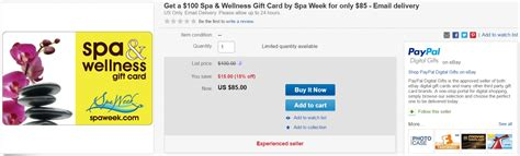 Restaurant Com Gift Cards For Sale - gas spa restaurant gift cards on sale at ebay frequent miler