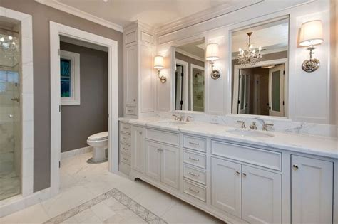 Master Bathroom Cabinet Ideas Picture Of Bath Remodel White Laquer Custom Vanity Cabinets White Master Bathrooms Design