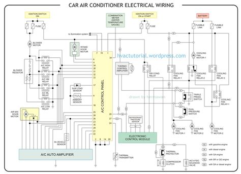 car air conditioning wiring diagram electrical for
