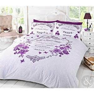 shabby chic purple bedding duvet cover shabby chic floral butterfly purple bedding bed set co uk