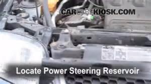 check power steering level mazda tribute 2001 2006
