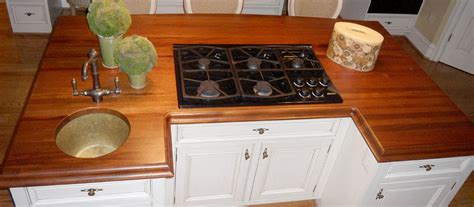 Mahogany Wood Countertop in Centerville, Virginia