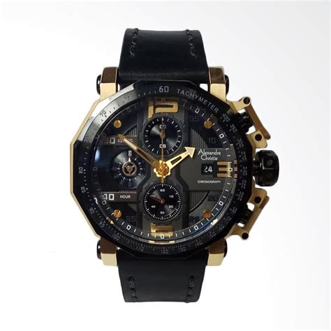 Alexandre Christie Ac6292mc Chronograph Black List Gold For jual alexandre christie chronograph jam tangan pria black gold ac6373mc harga