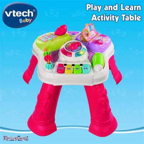 vtech busy play table vtech baby play and learn activity table pink