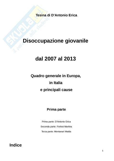 ufficio disoccupazione disoccupazione giovanile appunti di politica economica