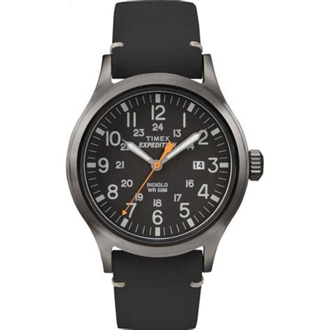 Expedition E6318 Black Leather tw4b01900 timex mens expedition analog elevated black