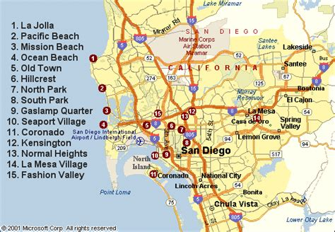 san diego map usa san diego california map
