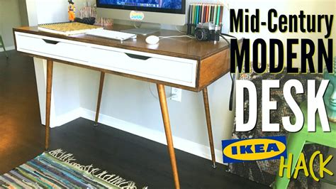 ikea modern desk diy mid century modern desk ikea hack