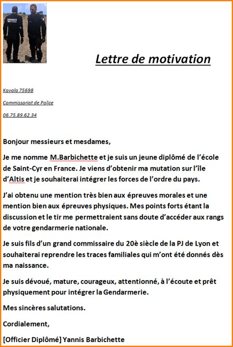 Exemple De Lettre De Motivation Nationale 8 Lettre Modele De Facture