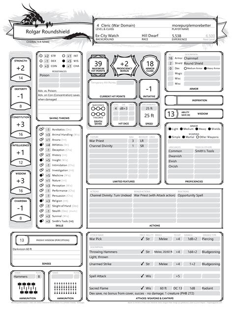 character sheet dungeons and dragons 3 5 best dragons 2017