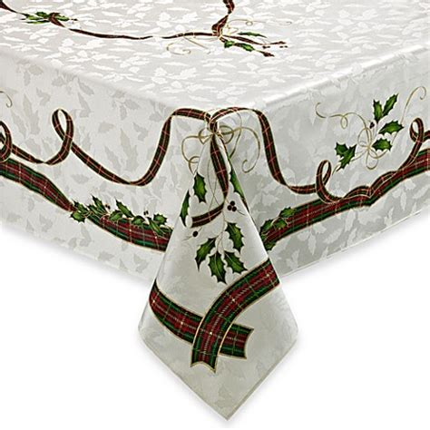 bed bath and beyond christmas tablecloths lenox 174 holiday nouveau tablecloth bed bath beyond